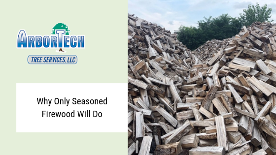 Seasoned firewood available now Arbortech tree service