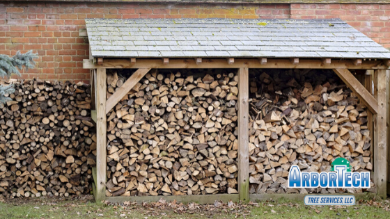tips for choosing an storing firewood from Arbortech tree services